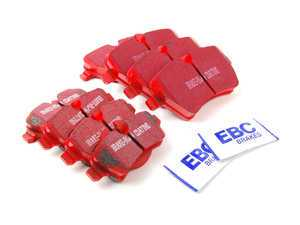 ES#2588106 - 34116778320KT3 - Brake Pad Kit - EBC Red - Replacement brake pads to restore your stopping power : Front & Rear - Assembled By ECS - MINI