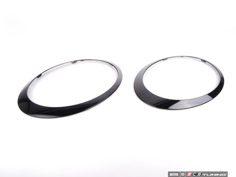 Ecs News Mini Headlight Taillight Trim Kits Jet Black