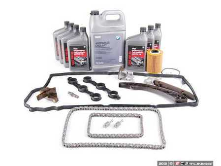 ES#2586734 - 11311738700TBKT - Timing Chain Kit - Everything you need to get the job done, including coolant, oil and filter - Assembled By ECS - BMW
