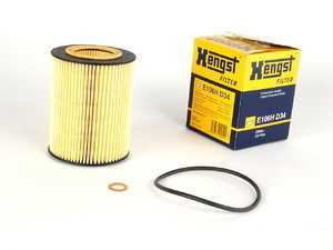 ES#10313 - 11427512300 - Oil Filter Kit - Includes filter, O-ring, and copper washer - Hengst - BMW