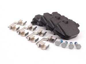 ES#1901756 - 34216796741 - Rear Brake Pad Set - Includes retaining clips and carrier bolts - Genuine BMW - BMW