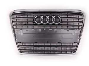 ES#383839 - 4E0853651AA1QP -   W12 Grille Assembly - Grey - Includes the chrome Audi rings - Genuine Volkswagen Audi - Audi