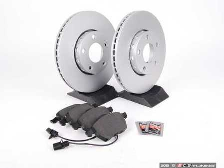 ES#1899320 - 8e0698005 - Front Brake Service Kit - Featuring Meyle Rotors and Vaico semi-metallic pads - Assembled By ECS - Audi Volkswagen