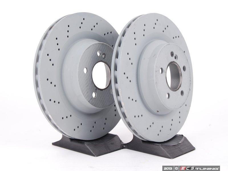 Genuine mercedes benz 2114231112kt1 rear brake rotors for Mercedes benz rotors