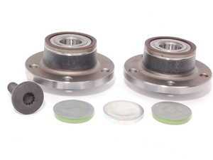 ES#2588452 - 1T0598611BKT1 - Rear Wheel Bearing Kit - Featuring Vaico wheel bearings with mounting hardware - Assembled By ECS - Audi Volkswagen