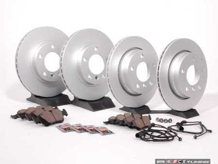 ES#2593146 - 34351164371KT2 - Front And Rear Brake Service Kit - Featuring Meyle coated rotors and Brembo pads - Assembled By ECS - BMW