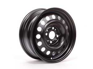 "ES#64499 - 36111178826 - 14"" Steel Wheel - Priced Each - 14x5.5"" ET35 57.1CB 4x100. Black. - Genuine BMW - BMW"