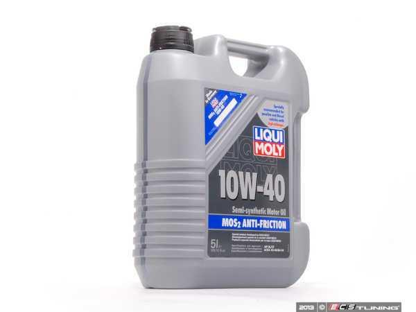 liqui moly 2043 10w40 m0s2 anti friction motor oil 5 liters. Black Bedroom Furniture Sets. Home Design Ideas