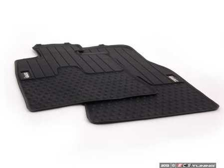 ES#2523824 - 51472243908 - Cooper S Logo Front Rubber Factory Floor Mats Set - Priced As Set - Replace or upgrade to factory MINI mats - Genuine MINI - MINI