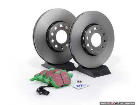 ES#2564977 - 8E0615301QKT - Front RPS Kit - Brembo Rotors & EBC Green Stuff Pads - Everything you need to service your front brakes in an afternoon  - Assembled By ECS - Audi
