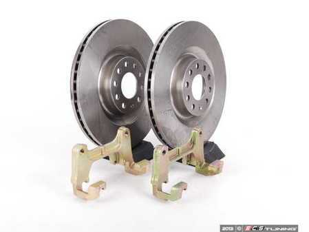 ES#6241 - B7A4S1Fpln - Front Big Brake Kit - stage 1 - Plain Rotors (345x30) - Upgrade to the stopping power of the Audi S4 - Assembled By ECS - Audi
