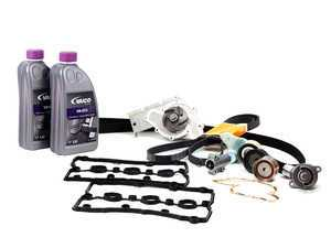 ES#4708 - 06C198479 V2 - Timing Belt Kit - Ultimate plus - Complete kit to service your timing belt, water pump, thermostat, and coolant - Assembled By ECS - Audi