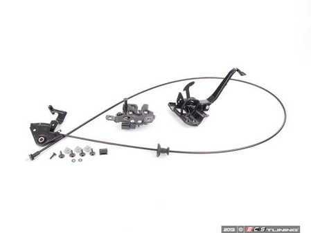 ES#2582069 - 8d1823531ckt-2 -  Hood Release Kit - Includes everything from the interior lever to the latch - Assembled By ECS - Audi