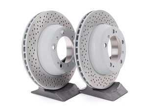 "ES#2515699 - 99635240104KT - Rear Brake Rotors - Pair 11.77"" (299mm) - Rear axle fitment - Both left and right - Genuine Porsche - Porsche"