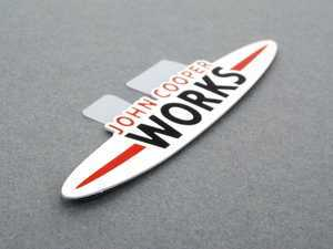 ES#2596860 - 11127612172 - JCW Engine Emblem Adhered - Located on the top of the engine cover for JCW engines - Genuine MINI - MINI
