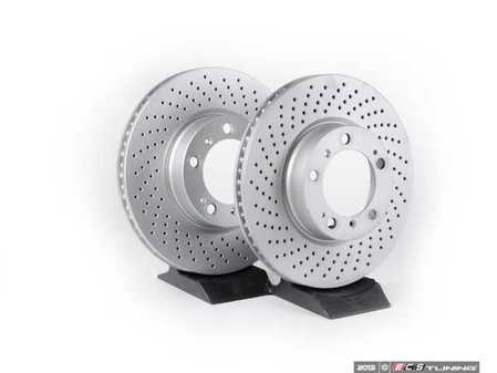 "ES#2535368 - 99635140501KT - Front Brake Rotors - Pair 12.51"" (318mm) - Directional front axle fitment - Both left and right - Meyle - Porsche"