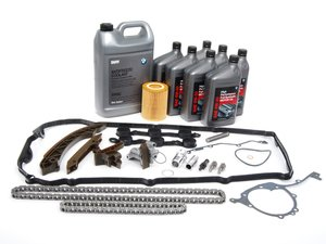 ES#2592861 - 11311432176KT2 - Timing Chain Kit - Everything needed to get the job done using genuine BMW components. Includes coolant, oil and a filter - Genuine BMW - BMW