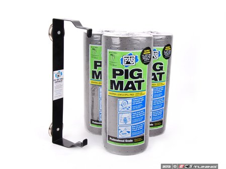 ES#2626365 - 57703 - Pig Mat And Dispenser Combo Pack - Includes a three pack of 60 sheet Pig Mat rolls and a free magnetic dispenser! - New Pig - Audi BMW Volkswagen Mercedes Benz MINI Porsche