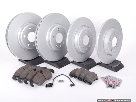 ES#2594262 - 8K0615301AKT1 -  Front & Rear Brake Service Kit - Featuring Meyle rotors and Vaico semi metallic pads - Assembled By ECS - Audi