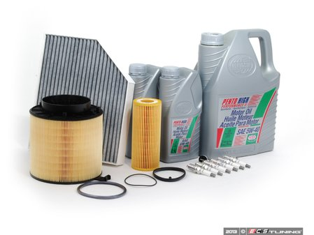 ES#2562225 - 06E115562AKT3 - 40k Service Kit - With ECS Magnetic Drain Plug - Includes everything you need to complete the factory 40k service - Assembled By ECS - Audi