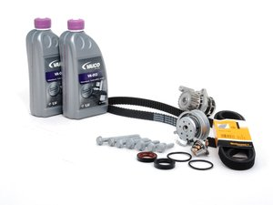ES#8452 - 06a198500 - ECS Ultimate Plus Timing Belt Kit - Comes with the ultimate kit plus cam and crank seals, hardware and 2 liters of G13 coolant - Assembled By ECS - Volkswagen
