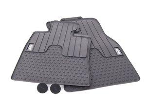 ES#2228697 - 51472231957 - MINI Emblem Logo Front Rubber Factory Floor Mats Set - Priced As Set - Replace or upgrade to factory MINI mats - Genuine MINI - MINI