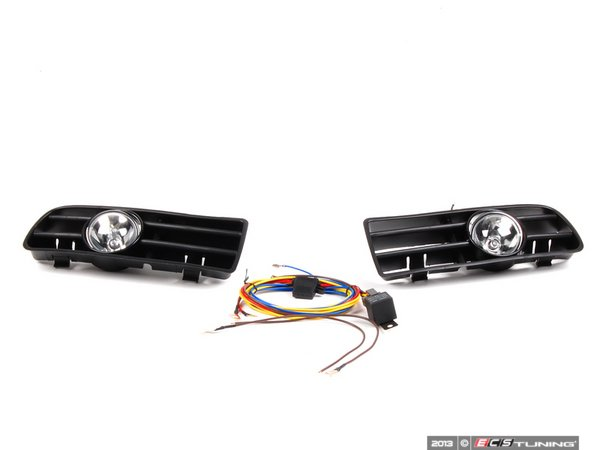 ES#10324 - 1j0998008 - Bumper Fog Light Kit - Without euro Switch - Increase your light output for added safety. - Assembled By ECS - Volkswagen
