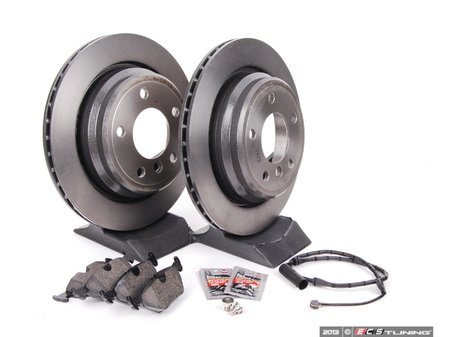 ES#240377 - ECSE393421-2 - Rear Brake Service Kit - Featuring Meyle Rotors and Pagid Pads - Assembled By ECS - BMW