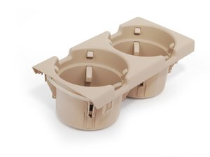 ES#86858 - 51168217955 - Front Cup Holder Insert - Beige - Cup holder insert that fits into the center console - Genuine BMW - BMW