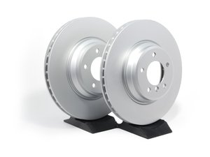 ES#2612423 - 34116855000KT2 - Front Brake Rotors - Pair (348x30) - Featuring a protective Meyle Platinum coating. - Meyle - BMW