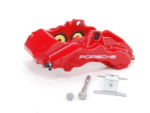 ES#1485502 - 99635143190 - Front Left Brake Caliper - Six piston front brake caliper with ceramic heat transfer insulation - Genuine Porsche - Porsche