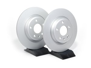 ES#2581153 - 8K0998601BKT2 - Rear Brake Rotors - Pair (300x12) - Featuring a protective Meyle Platinum coating. - Meyle - Audi