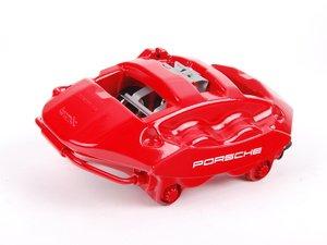 ES#1499397 - 99735242512 - Rear Brake Caliper - Red - Left side fitment - Genuine Porsche - Porsche