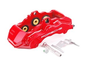 ES#1485504 - 99635143290 - Front Right Brake Caliper - Six piston front brake caliper with ceramic heat transfer insulation - Genuine Porsche - Porsche