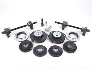 ES#2628663 - 1K0412331BKT9 - Cup Kit/Coilover Installation Kit w/ Specialty sockets and Spring compressors - Front strut mounts, rear spring perches, and all the necessary hardware and specialty tools to install any lowering springs - Assembled By ECS - Volkswagen