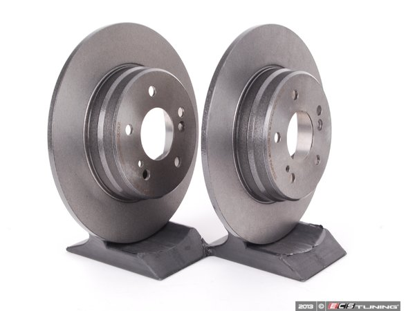 ES#2561826 - 2104231012 - Rear Brake Rotors - Pair - Solid Rotors - 290mm Diameter - Brembo - Mercedes Benz