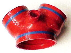 ES#745 - tb755red - Throttle Body Boot - Red - Replaces the troublesome and weak 'Y' boot - Samco - Audi