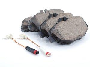 ES#2631526 - 0044207920 - Front Euro Ceramic Brake Pad Set - Includes brake pad wear sensor - Akebono - Mercedes Benz