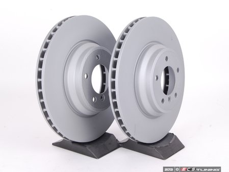 "ES#2612421 - 34116855000KT1 - Front Brake Rotors - Pair (348x30) - Features ""Z"" coat for corrosion resistance - Zimmermann - BMW"