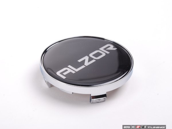 ES#2631544 - 2018CAP-A - Center Cap - Black/Chrome - Priced Each  - For the Alzor Style 881 wheels. 70mm - Alzor - Audi Volkswagen