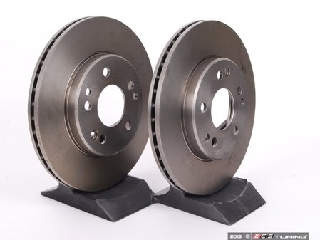 ES#2622609 - 1244211612KT7 - Front Brake Rotors - Pair - Does not include new rotor securing screws - ATE - Mercedes Benz