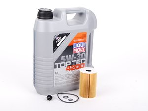ES#2608395 - 03L115562KT1 - Oil Service Kit - With ECS Magnetic Drain Plug - Featuring Liqui Moly oil, Hengst filter, and ECS magnetic drain plug - Assembled By ECS - Volkswagen
