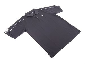 ES#2969959 - ACMAWM676BLKMD - Men'S ClimaLite Three-Stripe Cuff Golf Polo By Adidas - Black - Medium - Look great when you Tee off. - Genuine Volkswagen Audi - Audi