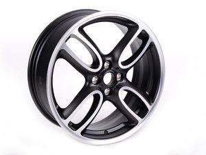 "ES#64972 - 36116774581 - R107 MINI JCW GP Wheel 18"" (4x100) - Black Matte Gloss Turned - Priced Each - 18 X 7J ET:52 - Genuine MINI - MINI"