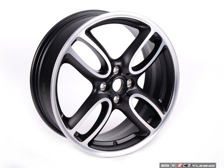 "ES#64972 - 36116774581 - R107 MINI JCW GP Wheel 18"" (4x100) - Black Matte Gloss Turned - Priced Each - 18 X 7J ET:52 - Genuine MINI - MINI"