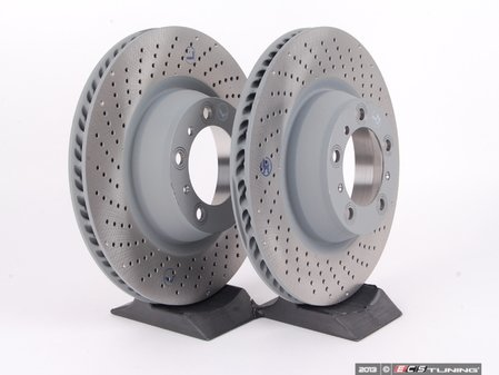 """ES#2598799 - 99735240502KT1 - Rear Brake Rotors - Pair 13.78"""" (350mm) - Directional rear axle fitment - Both left and right - OE Aftermarket - Porsche"""