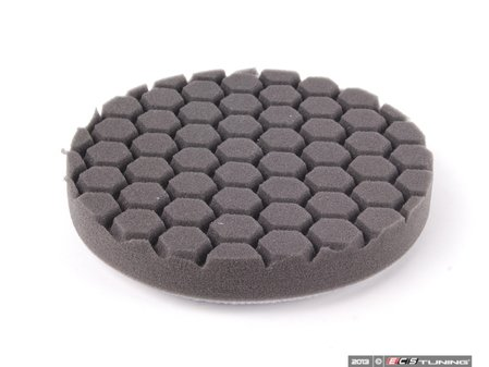 """ES#2619345 - BUFX106HEX6 - 6.5"""" Black Hex Logic Finishing Pad - The best pad to use with glazes or crme waxes for a brilliant finish - Chemical Guys - Audi BMW Volkswagen Mercedes Benz MINI Porsche"""