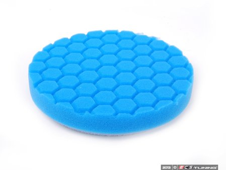 """ES#2618988 - BUFX105HEX6 - 6.5"""" Blue Hex Logic Polishing/Finishing Pad - 1500 To 2000 Grit - Complements glazes and light surface cleaners for a fine finish - Chemical Guys - Audi BMW Volkswagen Mercedes Benz MINI Porsche"""