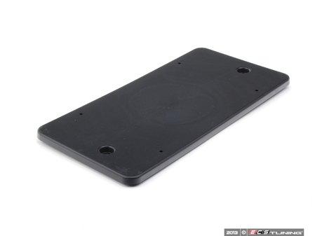 ES#1507654 - 9977011130001C - Rear License Plate Mount - Black - The correct way to mount your license plate - Genuine Porsche - Porsche