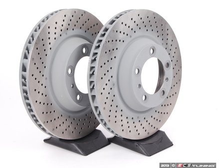 """ES#2561667 - 99735140501KT1 - Front Brake Rotors - Pair 13.77"""" (350mm) - Directional front axle fitment - Both left and right - Sebro - Porsche"""